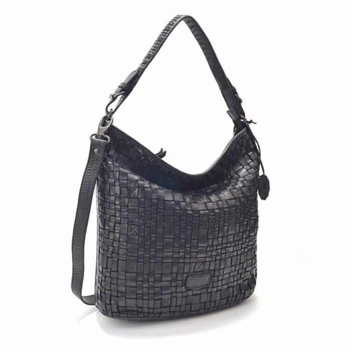 Kožená kabelka černá – NB 2012 C
