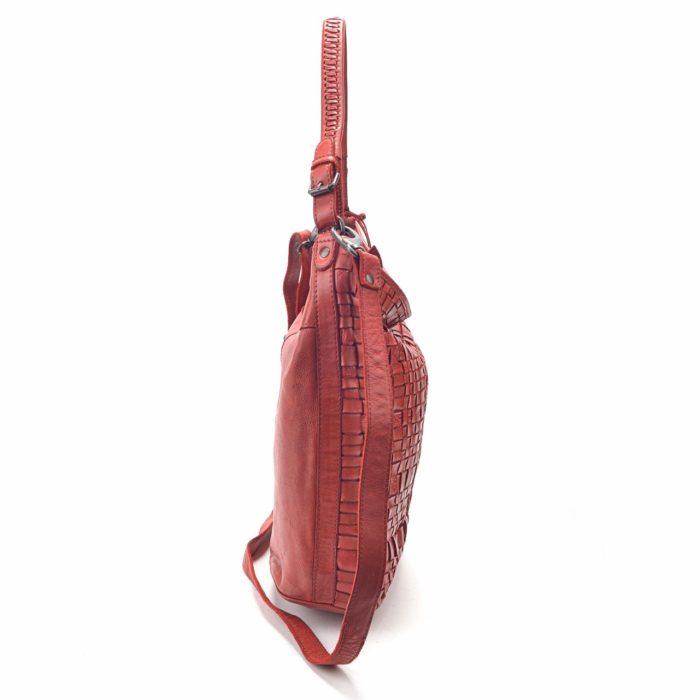Kožená kabelka červená – NB 2012 CV