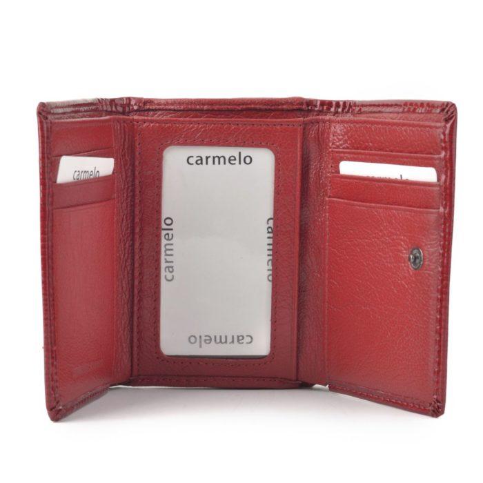 Kožená lakovaná peněženka bordó – 2106 F BO