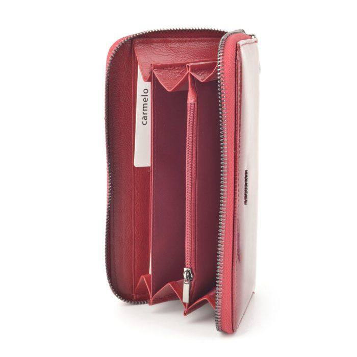 Kožená lakovaná peněženka bordó – 2111 F BO