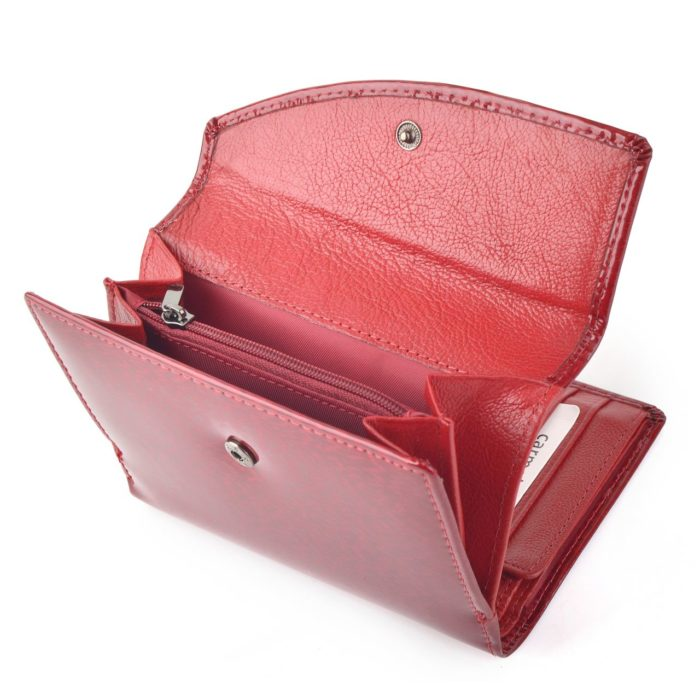 Kožená lakovaná peněženka červená – 2108 H CV