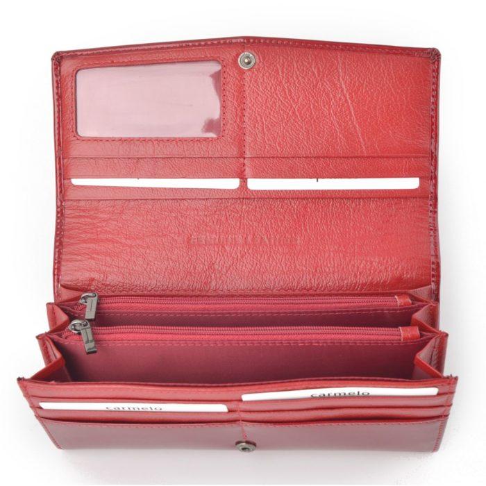 Kožená lakovaná peněženka červená – 2109 H CV
