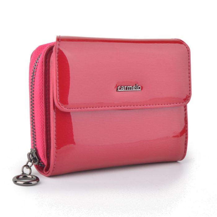 Kožená lakovaná peněženka fuchsia – 2104 G F