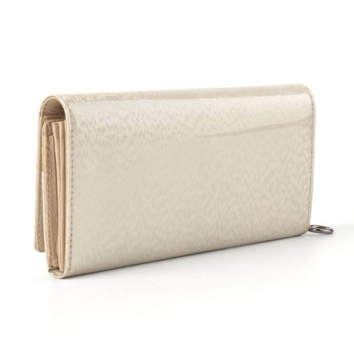 Kožená lakovaná peněženka krémová – 2100 H K